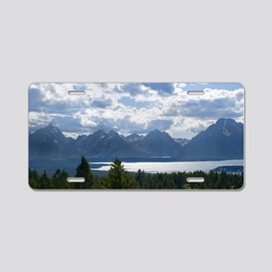 Grand Tetons Aluminum License Plate