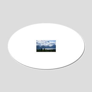 Grand Tetons 20x12 Oval Wall Decal