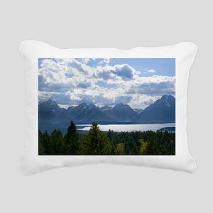 Grand Tetons Rectangular Canvas Pillow