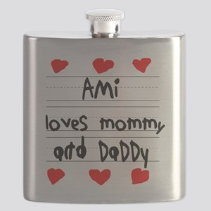 Ami Loves Mommy and Daddy Flask