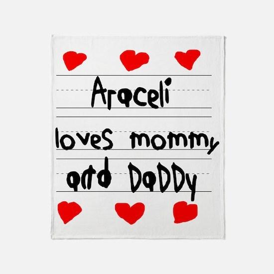Araceli Loves Mommy and Daddy Throw Blanket