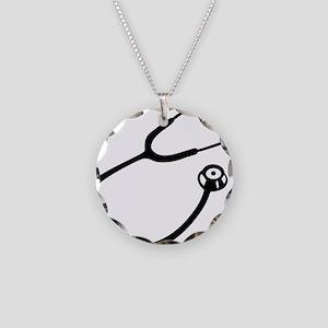 Stethoscope Necklace Circle Charm