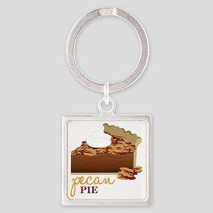 Pecan Pie Square Keychain