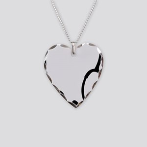 Stethoscope Necklace Heart Charm