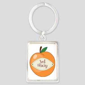 Just Peachy Portrait Keychain
