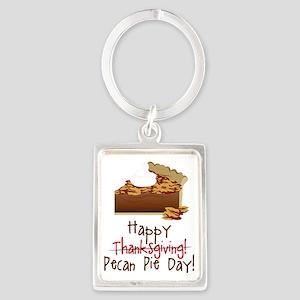 Pecan Pie Day Portrait Keychain