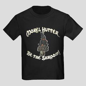 Morel Hunter BE THE SHROOM Kids Dark T-Shirt