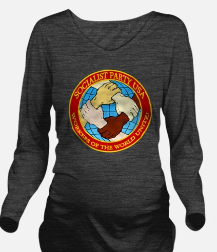 Socialist Party USA  Long Sleeve Maternity T-Shirt