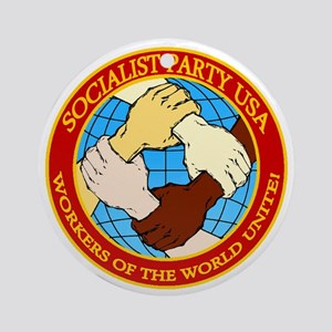 Socialist Party USA Logo Round Ornament