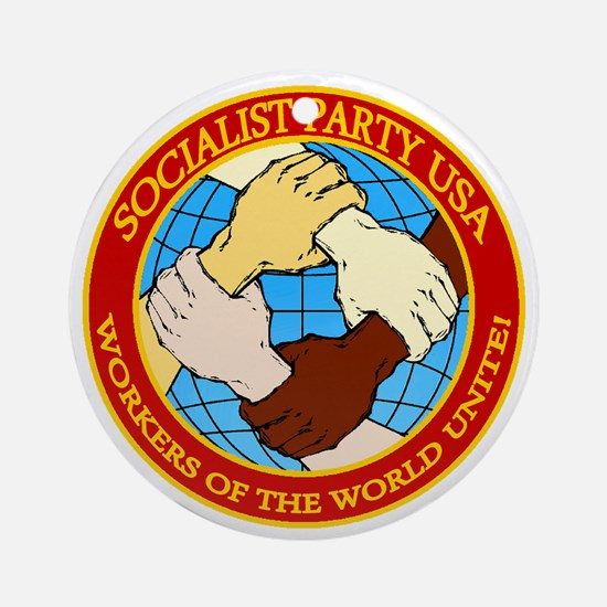 Socialist Party USA Logo Round Ornament