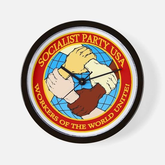 Socialist Party USA Logo Wall Clock