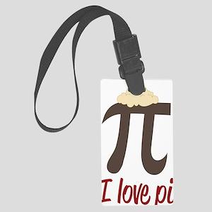 I Love Pi Large Luggage Tag