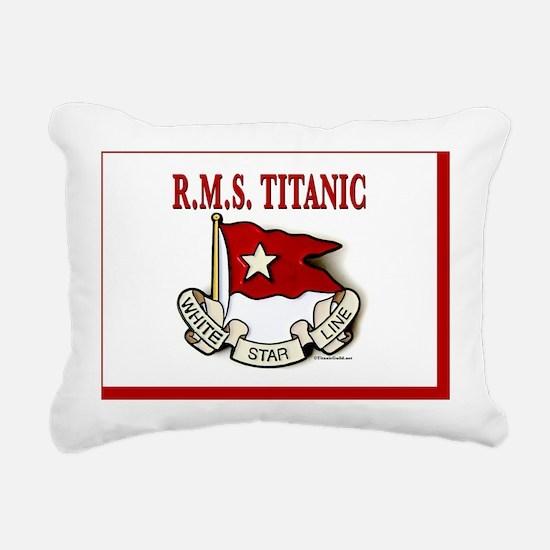 WSAreaRug5x7white/red Rectangular Canvas Pillow