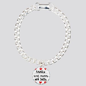 Annika Loves Mommy and D Charm Bracelet, One Charm