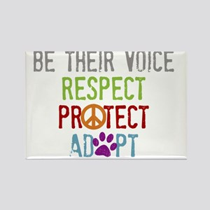 Be Their Voice Rectangle Magnet