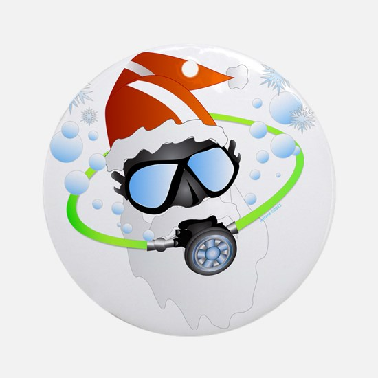 Santa Ornament Round Ornament