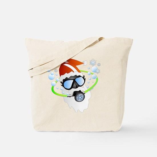 Santa Ornament Tote Bag