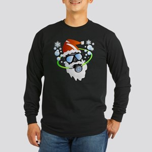 Santa Ornament Long Sleeve Dark T-Shirt