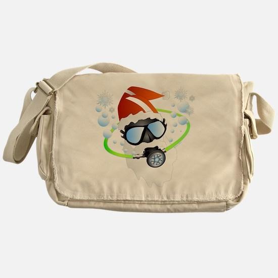 Santa Ornament Messenger Bag