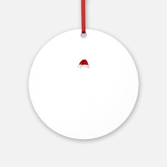 Merry Squatchmas Round Ornament