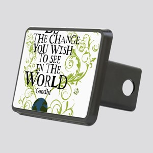 bethechange_earth_white Rectangular Hitch Cover