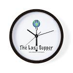 Last Supper Fork (color) Wall Clock