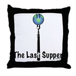Last Supper Fork (color) Throw Pillow