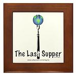 Last Supper Fork (color) Framed Tile
