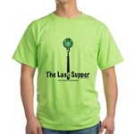 Last Supper Fork (color) Green T-Shirt