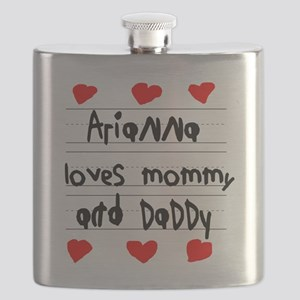 Arianna Loves Mommy and Daddy Flask