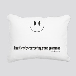 silently correcting your Rectangular Canvas Pillow