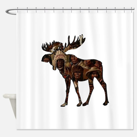 MOOSE TRIBUTE Shower Curtain