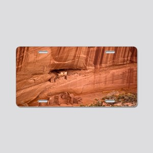 Cave dwellings Aluminum License Plate