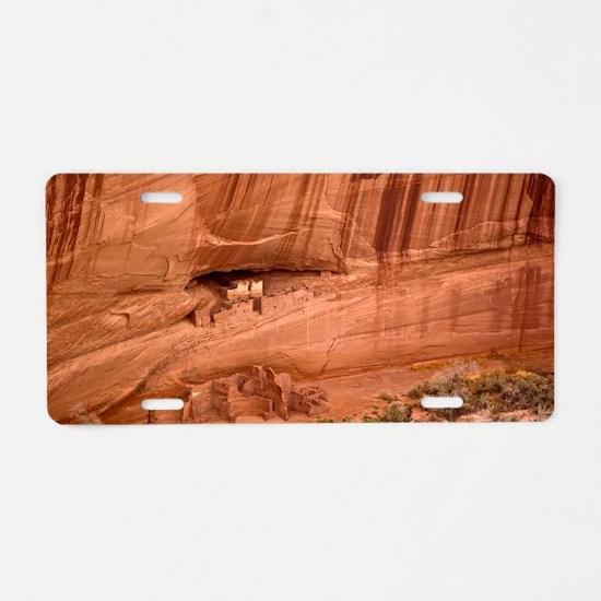 Cave dwellings Aluminum License Plate