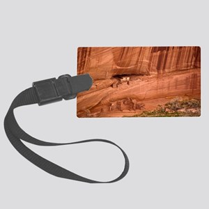 Cave dwellings Large Luggage Tag