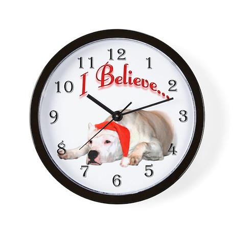 Dogo I Believe Wall Clock