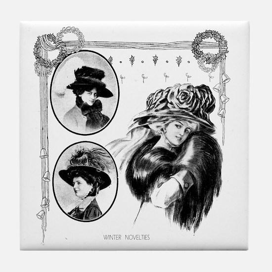 1908 Winter Novelties Tile Coaster