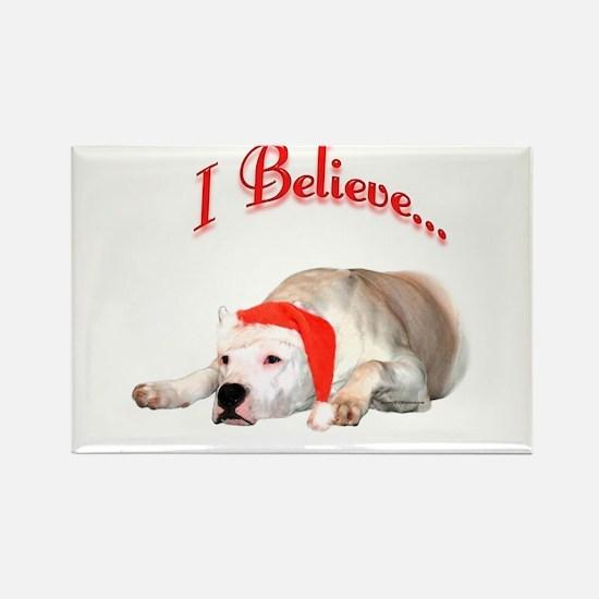 Dogo I Believe Rectangle Magnet