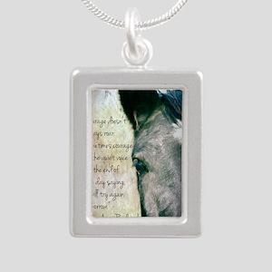 Courage Silver Portrait Necklace