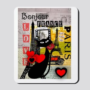 france cat cell case Mousepad