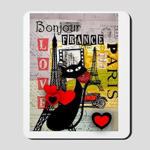 france cat cell case Mousepad