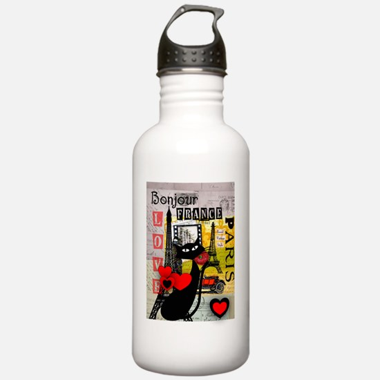 france cat cell case Water Bottle