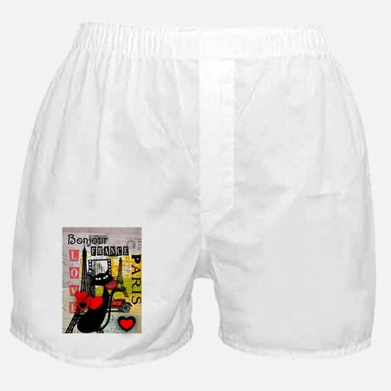 france cat cell case Boxer Shorts