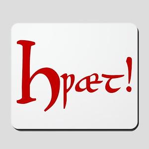 Hwaet! (Red) Mousepad