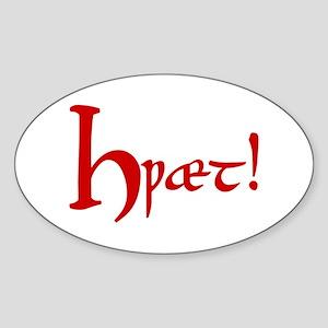 Hwaet! (Red) Oval Sticker