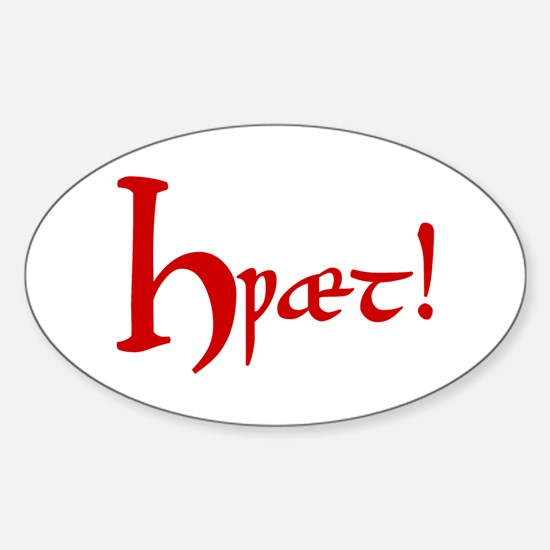 Hwaet! (Red) Oval Decal