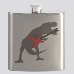 T-rex Playing the Guitar Flask