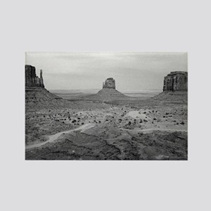 Monument Valley Black and White Rectangle Magnet