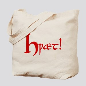 Hwaet! (Red) Tote Bag