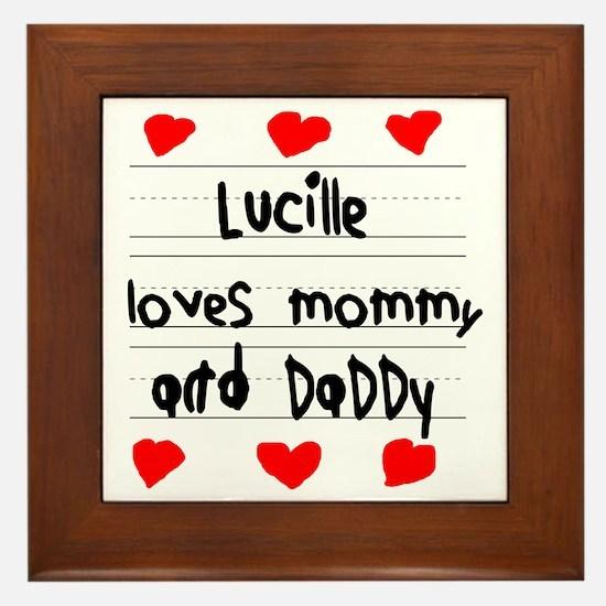 Lucille Loves Mommy and Daddy Framed Tile